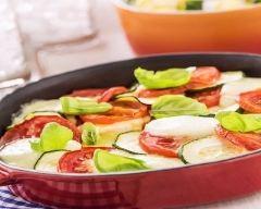 Recette gratin aux légumes d'été et mozzarella