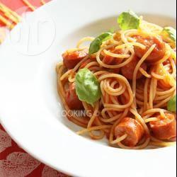 Recette spaghetti aux saucisses et à la sauce marinara – toutes les ...