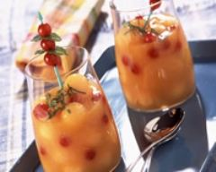 Recette soupe de melon glacée au miel et groseilles