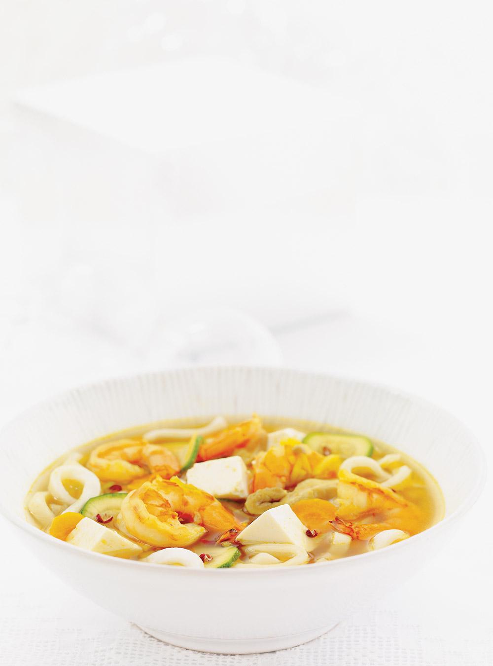 Soupe de miso aux crevettes et au tofu | ricardo