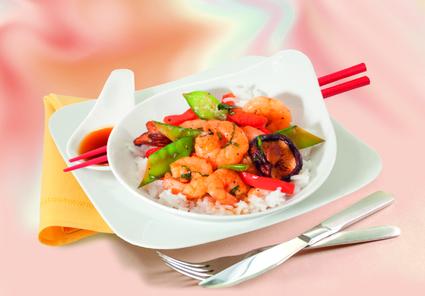 Recette de wok épicé de crevettes et légumes