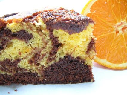Recette de gâteau marbré chocolat /orange