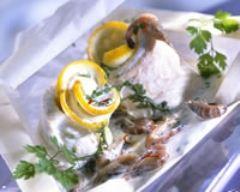 Recette papillotes de sole aux crevettes