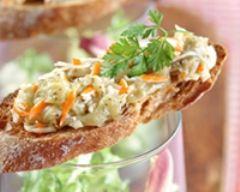 Recette tartine de surimi et caviar d'aubergines