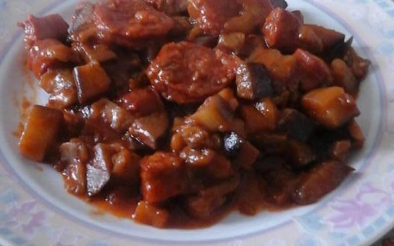 Recette aubergines au chorizo économique > cuisine étudiant