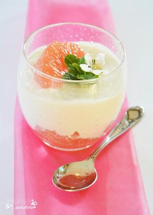Recette de blancs-mangers coco pamplemousse