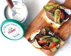 Recette bruschetta de légumes grillés au chèvre frais apéritif rians