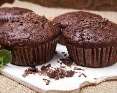 Recette muffins au chocolat noir, amandes et gingembre confit