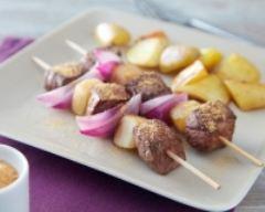 Recette brochettes de bœuf au pain d'épices et pommes de terre ...