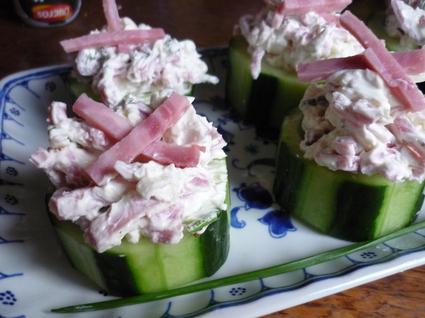 Recette de rondelles de concombre farcies