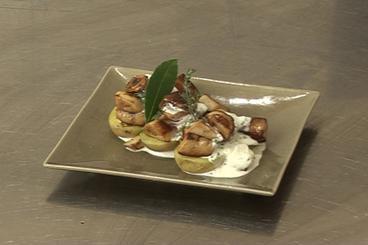Recette de pomme de terre surprise aux cèpes et foie gras facile et ...