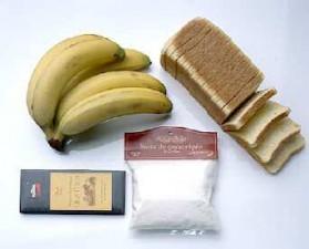 Croque chocolat banane pour 4 personnes