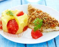 Recette filet de daurade en croûte de noisette, polenta au ...