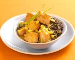 Recette curry de rouelle de porc épicé et lentilles vertes