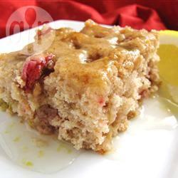 Recette gâteau à la rhubarbe avec sauce au citron – toutes les ...