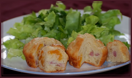 Recette de muffins aux abricots secs et aux lardons