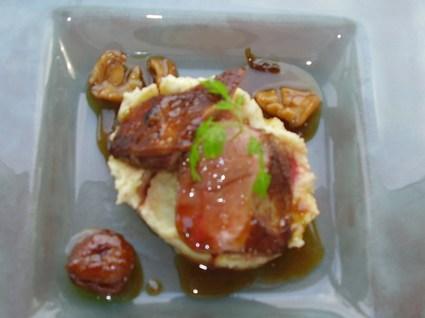 Recette de magret de canard au miel et sa purée aux marrons