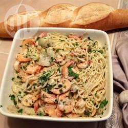 Recette linguines estivales aux crevettes et aux artichauts – toutes ...