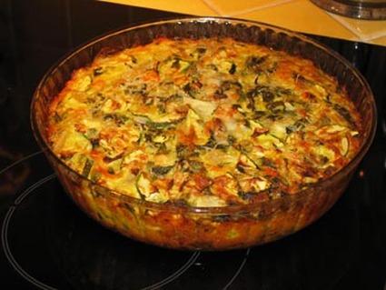 Recette de tarte aux courgettes (sans pâte)