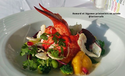 Recette de homard et légumes printaniers en salade