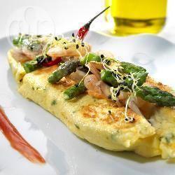Recette omelette espagnole aux champignons, asperges et ...
