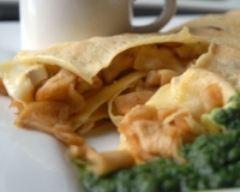 Recette crêpe au camembert et pommes fondantes