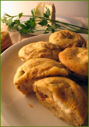 Recette de muffins au navet et noix, coeur de chabichou