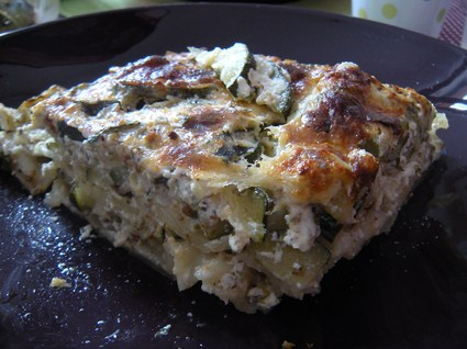 Recette de lasagnes de courgette-ricotta aux herbes oubliées