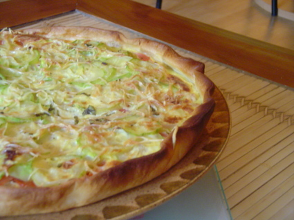 Recette de tarte provençale aux courgettes