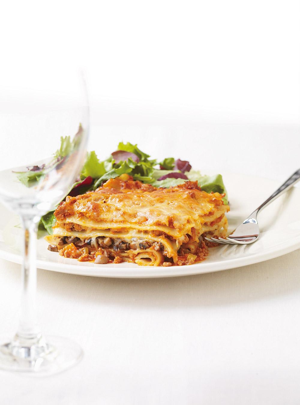 Lasagne bolognaise aux champignons | ricardo