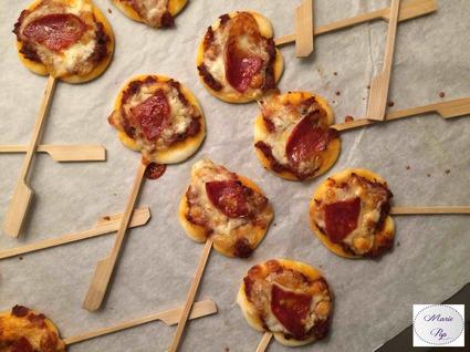 Recette de pizzas lollipops