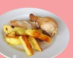 Recette poulet et pommes de terre rôties au romarin
