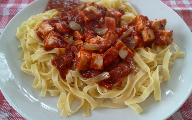 Recette Pates A La Sauce Tomate Et Au Tofu Economique Et Facile