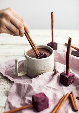 Cubes à tremper pour chocolats chauds à la cannelle