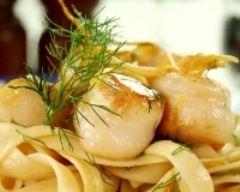 Recette tagliatelles aux noix st jacques, sauce curry