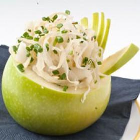 Pomme farcie de choucroute pour 4 personnes