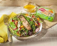 Recette salade colorée et filets de thon à l'huile d'olive