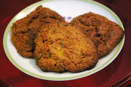 Recette de cookies aux courgettes et à la feta