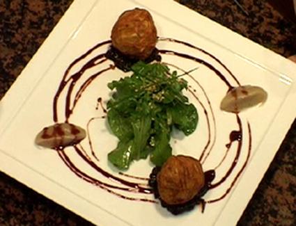 Recette de billes de foie gras au sirop de banyuls et confit