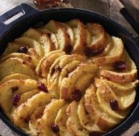 Recette de pain perdu façon tarte aux pommes et cranberries