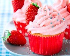 Recette cupcakes à la fraise