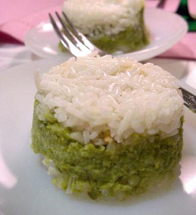 Recette de timbale de riz aux petits pois
