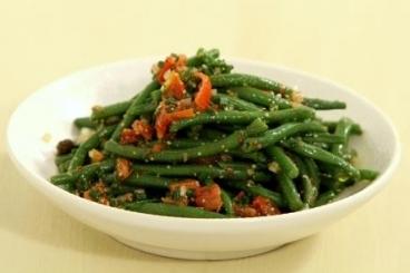 Recette de salade de haricots verts à l'échalote, vinaigrette au curry ...