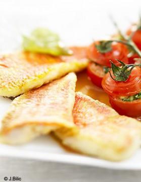 Filets de rouget et tomates cerises farcies pour 4 personnes ...