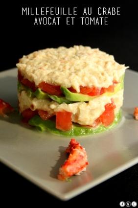 Recette de millefeuille crabe, avocats et tomates