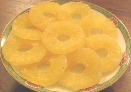 Recette ananas confit et givré
