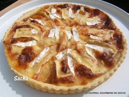 Recette de tarte au camembert et aux lardons