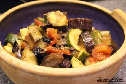 Recette de ratatouille aux olives noires