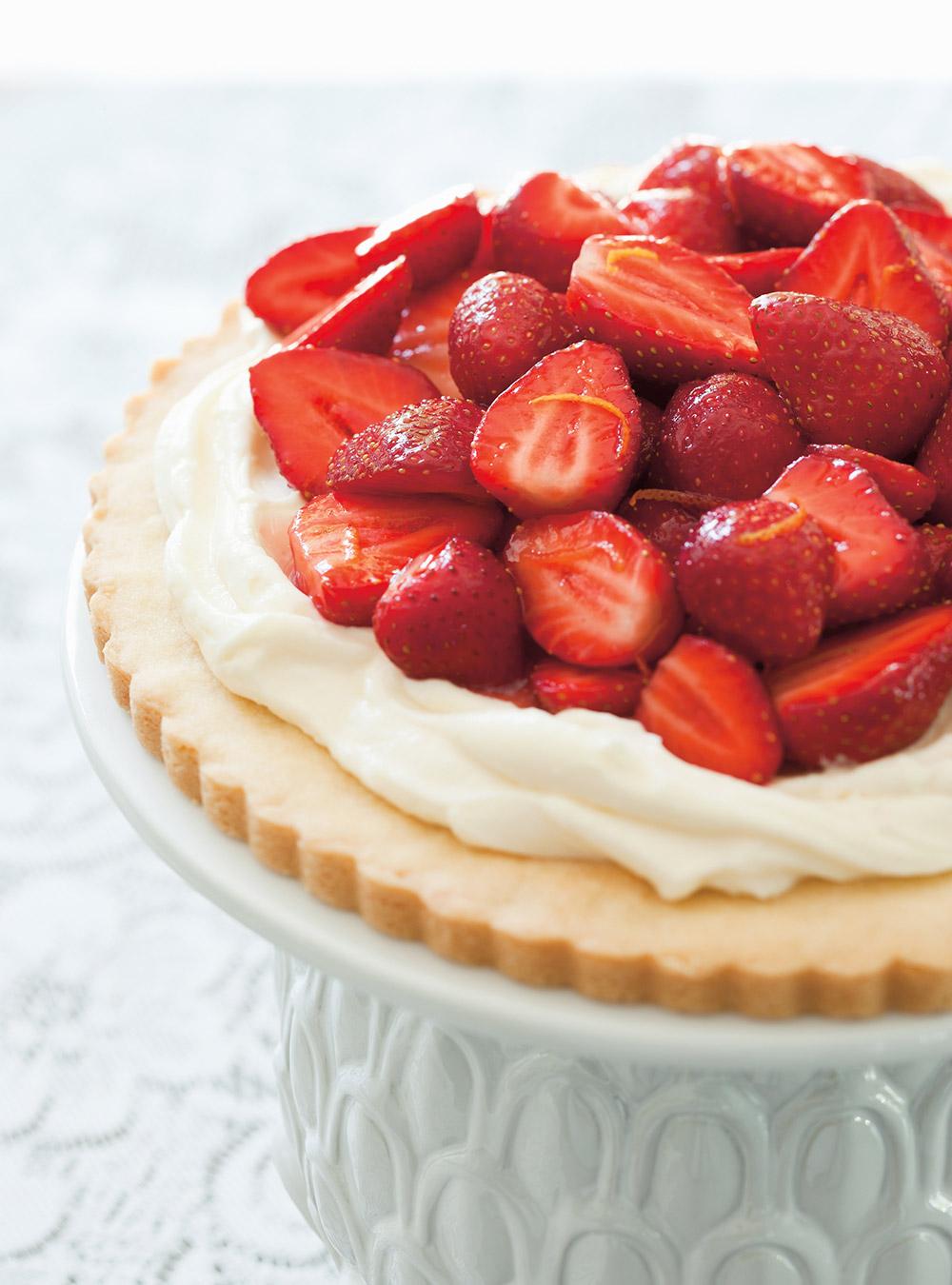 Tarte biscuit aux fraises et au mascarpone   ricardo