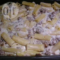 Recette gratin de pâtes à la viande hachée et béchamel – toutes ...